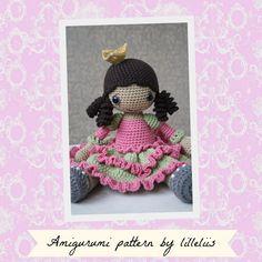 PATTERN - Princess Silver-shoe - crochet pattern, amigurumi pattern, pdf von lilleliis auf Etsy https://www.etsy.com/de/listing/157637322/pattern-princess-silver-shoe-crochet