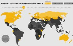 International Women's Day: political rights around the world mapped
