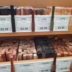 We're all stocked up on our wooden pen blanks! Don't they look wonderful? Woodworking Patterns, Woodworking Projects Diy, Wood Turning Blanks, Stabilized Wood, Pen Blanks, Pen Design, Pen Turning, Wood Lathe, Ballpoint Pen