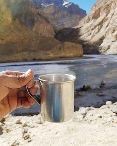 Instagram Photo Contest January 2018 Entry 📸: @apoorvg1 ・・・ Steaming hot Kahwa, stop over ritual at Chadar. . . . #Chadartrek #Frozenriver #zanskar #Ladakh #lehladakh #trekkinginindia #kahwa #tealover #Trekking #hiking #challenges #minus20degrees #travelphotography