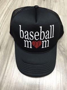 Baseball Mom Adult Trucker Hat