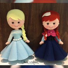 Frozen princesas de feltro