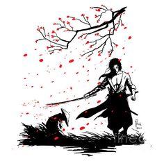 Samurai Drawing, Warrior Drawing, Samurai Artwork, Art Sketches, Art Drawings, Skeleton Art, Samurai Warrior, Fantasy Illustration, Pen Art