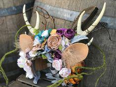 Deluxe casque de chevreuil cerf fleur couronne couronne de