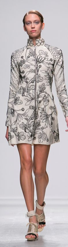 The stylised oriental embroderies by Indian designer RAHUL MISHRA, Spring 2015