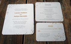 Modern Wedding Invitation: Confetti Wedding and Polka Dot Invitations. $4.05, via Etsy.