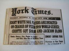 Black Sox Scandal | Black Sox Scandal: The 1919 World Series on Behance