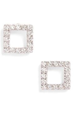 Bony Levy Aurora Diamond Open Square Stud Earrings (Nordstrom Exclusive) available at #Nordstrom
