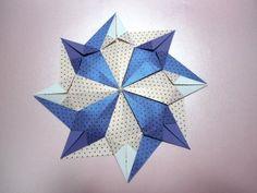 Origami Mandala Estrelar Folding Instructions