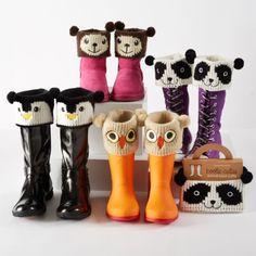 New NIP Kids Womens Boot Knit Animal Face Cuff So Cute Teddy Bear | eBay