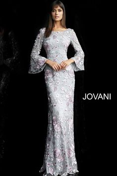 Designer Prom, Formal Evening & Special Occasion Dresses - Couture Candy – Page 7 Long Sleeve Evening Gowns, Evening Dresses With Sleeves, Evening Dresses Online, Gowns With Sleeves, Bell Sleeves, Jovani Dresses, Mob Dresses, Bridal Dresses, Wedding Dress