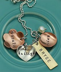 mixed metal eclectic charm necklace