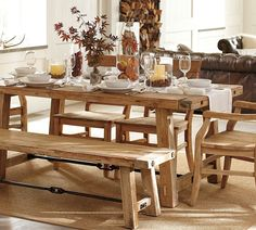 Rustic Wooden Bench And Tables On Brown Carpet Kitchen Dining