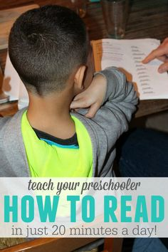 How to teach your preschooler to read in just 20 easy minutes a day. Give your kids a head start on Kindergarten!