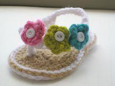 Crochet Dreamz..sweet flip flops