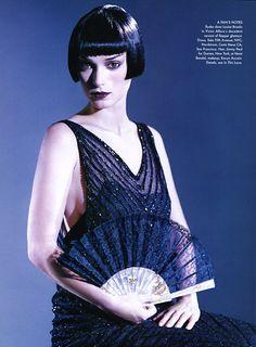 Winona Ryder as Louise Brooks, Vogue December 1996
