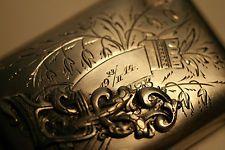 Antique Russian 84 solid silver wallet purse Russian Sterling Art Nouveau gift
