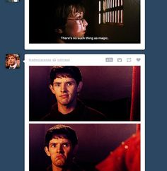 Merlin does not approve of Harry Potter's plight.