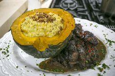 Risoto de Abóbora com Gorgonzola e Nozes do Chef Roberto Ravioli