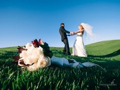 Christy and Brian's Wedding at Cinnabar Hills Golf Club! Wedding and engagement photography by Charles Le Photography - Bride and Groom with boquet dancing