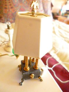 Artisan dollhouse miniature desk lamp with 4 lights exquisite Kummerows unique