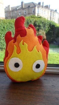 Calcifer Plush  •  Free tutorial with pictures on how to make a food plushie in under 60 minutes