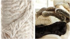 gorgeous and sumptuous faux fur throws