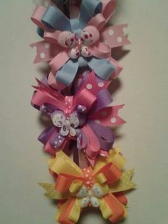 Butterfly Bow clips-$4 each or all three for $10