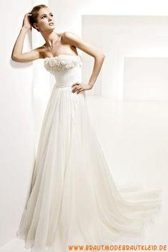 2013 Wunderschönes Brautkleid A-Linie mit langer Schleppe