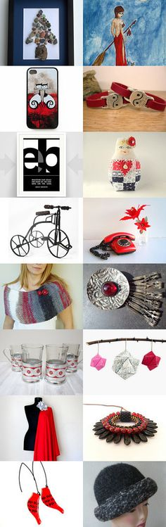 Red and friends by Ana Martín on Etsy--Pinned with TreasuryPin.com