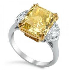 2 carat fancy pink diamond platinum engagement ring   24 carat fancy vivid yellow diamond ring in platinum 18k gold