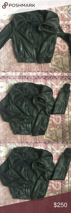 All Saints Black Leather Jacket Textured Size 6 All Saints Leather Jacket! I love this coat, I am sad I have out grown it. Rich dark chocolate brown, but tag says coat is black, off black is true color. Gorgeous statement piece and absolutely timeless. All Saints Jackets & Coats Utility Jackets
