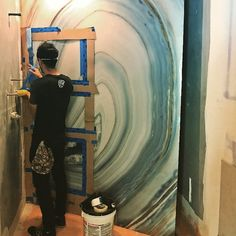 Custom #alexturco geode shower wall panel being installed for one of our LI residential clients #interiordesign #luxurydesign #luxurylife #luxuryhomes #nyinteriordesign #nycinteriordesign #interiordecor #nyc #jseinteriordesign #jsedesign www.jse-interiordesign.com