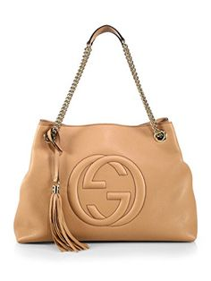 SALE PRICE -  2090 - Gucci Camelia Camel Pebbled Leather Soho Shoulder Hand  Bag Tassel Shoulder e01e30456a68c