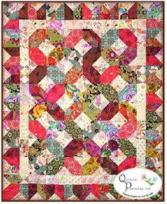 """This pattern uses light and dark fabrics to make this beautiful contrasting quilt design. The quilt is shown in Asian fabrics, but Batiks, florals and novelty prints would look stunning.Finished size: 54"""" x 66"""""""