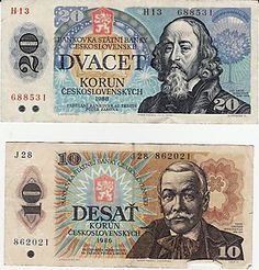 Old Czechoslovakia Money Czech Money, Prague, Europe Centrale, Money Worksheets, Puerto Rico History, Old Money, Commemorative Coins, World Coins, My Heritage