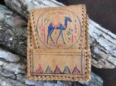 Hand Tooled Camel Leather Case // by YearsSinceYesterday Cigarette Case, Almost Always, Hand Tools, Leather Case, Card Case, Preppy, Camel, Denim, Places