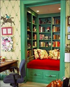 Turn an extra closet into the coziest of libraries!