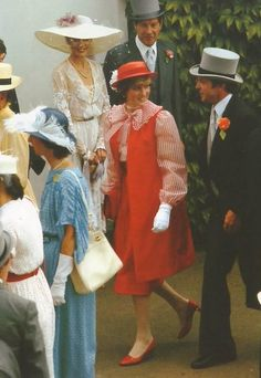June 18, 1981: Lady Diana Spencer at Royal Ascot in London.