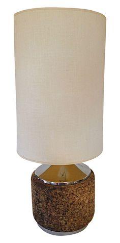 Mid-Century Cork Lamp on Chairish.com