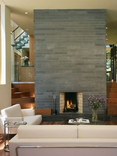 Like this facade with a wood mantel & hearth