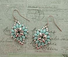 Cute & Easy Earrings - Aqua & Silver | Linda's Crafty Inspirations | Bloglovin'