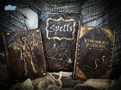 How to make your own Old Halloween Books...