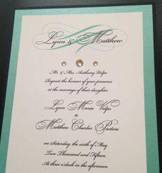 #Teal #WeddingInvitation