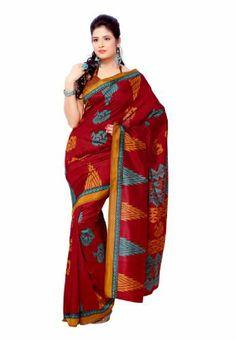 Indian Designer Wear Tussar Silk Brown Printed Saree Fabdeal, http://www.amazon.de/dp/B00J0V0SKC/ref=cm_sw_r_pi_dp_j46otb0TZWYDC