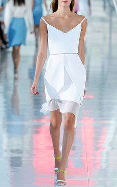 i like the hem detail, great DIY dress extender idea.    Preen Spring/Summer 2014 Trunkshow Look 14 on Moda Operandi