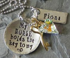 This Chic has the most charming variety .. love them all   Personalized Hand Stamped Horse by EquineExpressionsbyD on Etsy, $35.00