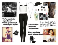 """""""Judging The X Factor with Louis"""" by blueknight ❤ liked on Polyvore featuring Topshop, NARS Cosmetics, Moschino, Smashbox, Blue Nile and Diesel"""