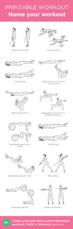 Name your workout:my visual workout created at WorkoutLabs.com • Click through to customize and download as a FREE PDF! #customworkout
