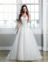 Beaded Alencon lace and tulle ball gown emphasized with a sweetheart neckline @ Mia Sposa Huddersfield 01484421900
